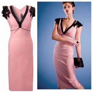 Stop Starring 40s Vogue glamour blush pink dress